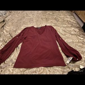INC International Concepts Tops - New blouse.  BURGUNDY COLOR NOT RED